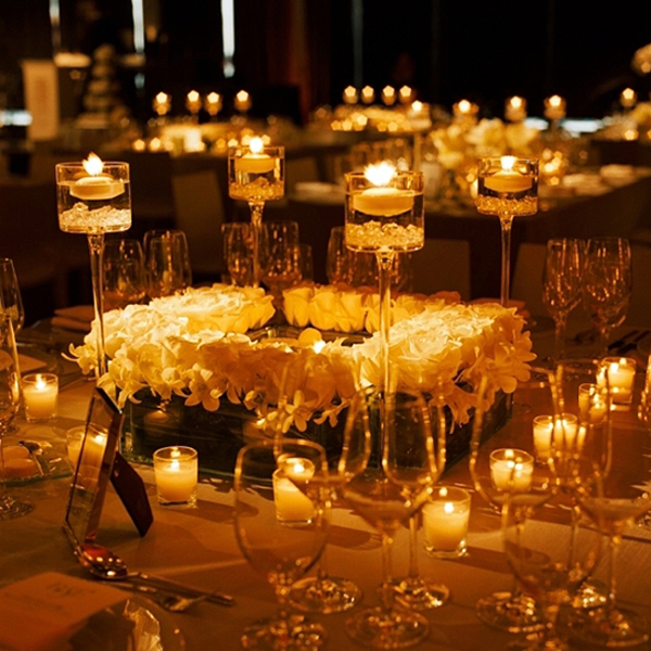 Crimson candles weddings kenya beautiful decor using candles junglespirit Gallery